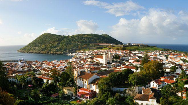 Angra e Monte Brasil&#10Local: Ilha Terceira nos Açores&#10Foto: DRT, Maurício de Abreu