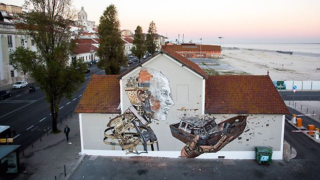 Vhils / Pixel Pancho&#10Place: Lisboa&#10Photo: Alexander Silva