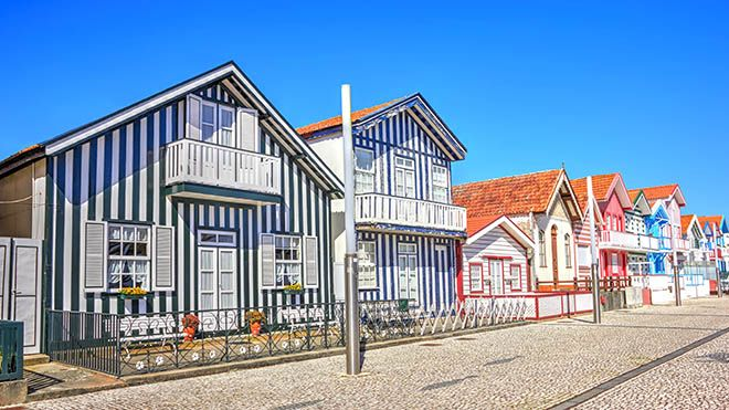 Costa Nova Houses_Aveiro&#10Place: costa Nova, Aveiro&#10Photo: shutterstock_portumen