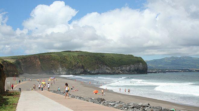 Praia do Areal de Santa Bárbara&#10Plaats: Ribeira Grande - São Miguel&#10Foto: ABAE