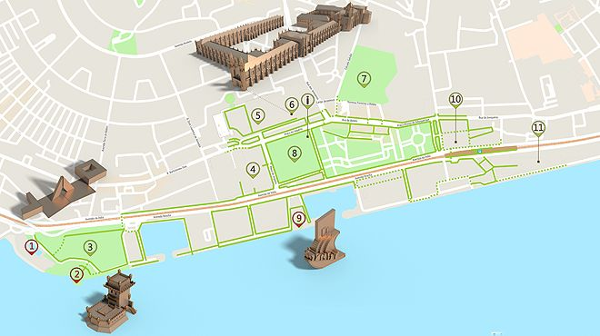 mapa lisboa belem Belém (Lisbon)   Accessible Itinerary Map | .visitportugal.com mapa lisboa belem