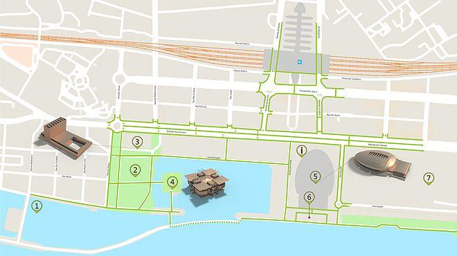 parque das nações mapa Parque das Nações (Lisboa)   Mapa do itinerário acessível | parque das nações mapa