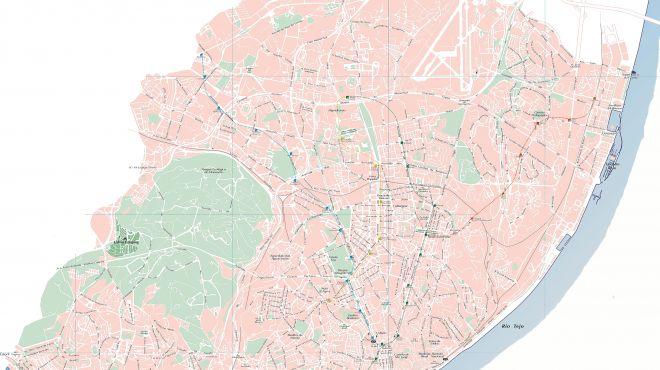 Mapa de Lisboa&#10Lugar Lisboa&#10Foto: Mapa de Lisboa