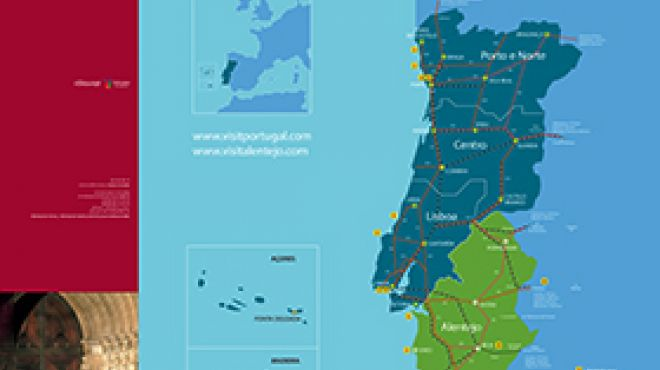 Mapa do Alentejo