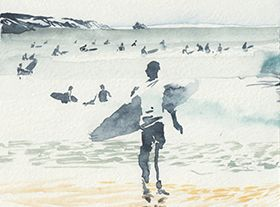 Urban Sketchers - 6 days of surfing