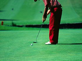 Playing golf near Lisbon