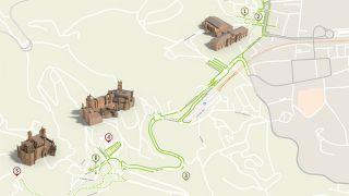 Mapa de Sintra - Itinerário Acessível &#10Local: Sintra&#10Foto: ICVM