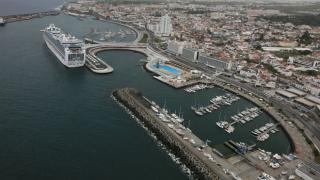 Portas do Mar em Ponta Delgada&#10Lugar Ilha de São Miguel nos Açores&#10Foto: Publiçor