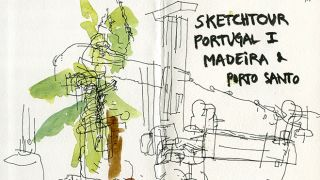 Urban Sketchers - Madeira - Ea Ejersbo&#10Place: Madeira&#10Photo: Ea Ejersbo