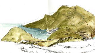 Urban Sketchers - Madeira - Ketta Linhares&#10場所: Madeira&#10写真: Ketta Linhares