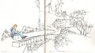 Urban Sketchers - Linda Toolsema by Pedro Cabral &#10照片: Pedro Cabral