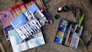Urban Sketchers - João Moreno - Évora -&#10地方: Alentejo&#10照片: João Moreno