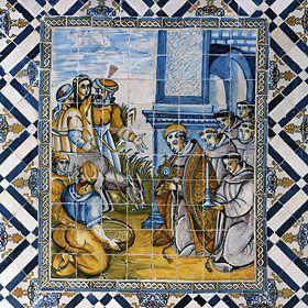 Painel de Azulejos Local: Penedo, Colares