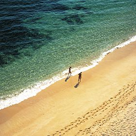 Walk on a west Algarve beach