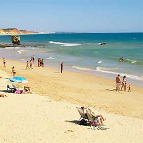 Praia dos Olhos de ÁguaPlace: AlbufeiraPhoto: Helio Ramos - Turismo do Algarve