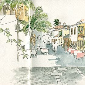 Urban Sketchers - Madeira - Ea Ejersbo - Funchal