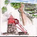 Urban Sketchers nos Açores - Alexandra Baptista&#10Photo: Alexandra Baptista