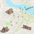 Mapa Tavira - itinerario turistico acessivel