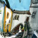 Urban Sketchers - Inma Serrano - Óbidos&#10地方: Óbidos&#10照片: Inma Serrano