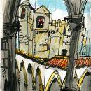 Urban Sketchers - Inma Serrano - Convento de Cristo&#10Place: Tomar&#10Photo: Inma Serrano
