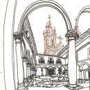 Urban Sketchers - Mário Linhares - Guimarães p&#10Ort: Guimarães&#10Foto: Mário Linhares