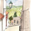 Urban Sketchers - Pedro Cabral - Alte &#10Place: Alte / Via Algarviana&#10Photo: Pedro Cabral