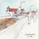 Urban Sketchers - Linda Toolsema - Zambujeira do Mar&#10Ort: Zambujeira do Mar / Rota Vicentina&#10Foto: Linda Toolsema
