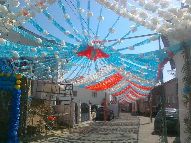 Pereiro de Mação: Ornamentações do Largo do Fundo da Rua em 2013...